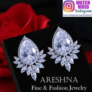 Royal Swarovski Crystals Luxury Stud Earrings